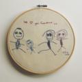 Custom Kids Art Embroidery Hoop Wall Hanging.