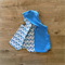 Size 2 Reversible Vest - Blue Fleecy / Snowflakes READY TO POST