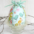 Fabric Covered Easter Egg