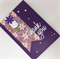 Thank You Card - Shimmer Purple, floral and pearl