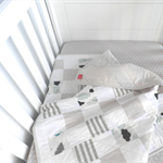 Cot Quilt - Baby Quilt - Clouds