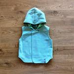 Reversible Vest - Mint Fleecy / Mint and Purple Paisley CUSTOM MADE
