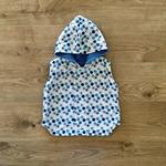 Reversible Vest - Blue Fleecy / Snowflakes CUSTOM MADE