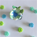 Miniature Fantasy Garden - Polymer clay flower pot plant  / sculpture