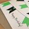 Happy Birthday! Bunting Card - Washi Tape Bunting - Green & Black - Unisex