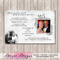 25th Silver Photo Personalised Wedding Anniversary Invitation - YOU PRINT