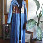 Denim and patchwork coat