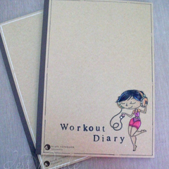 Workout Diary - Journal - Hand stamped - Customisable