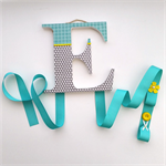 Wooden 'Initial' Hair Accessory Organiser