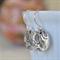 Sterling Silver Rose Hook Earrings.