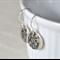 Sterling Silver Maple Leaf Hook Earrings.