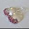 Garnet and Sterling Silver 'Shield' earrings