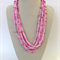 Pink Crochet Cotton Necklace Handmade OOAK  by Top Shelf Jewellery