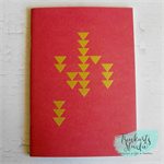Triangle Geometric Hand Stamped & Embossed Blank Page Journal Notebook