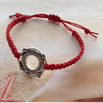 Red Braided Cord Life Ring Charm Adjustable Friendship Nautical Bracelet