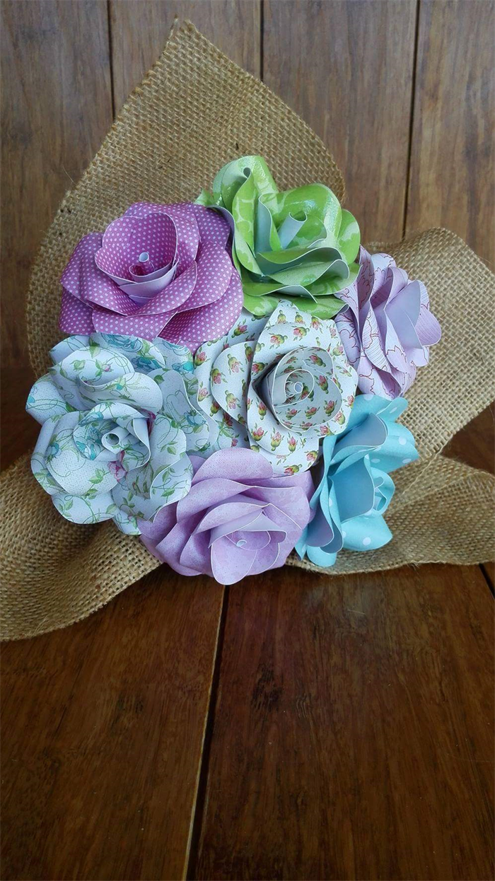 Bunch Of Paper Flowers Simply Beautiful In Country Florals