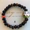 Geisha - Beaded Bracelet with Hand Painted Porcelain Focal Bead