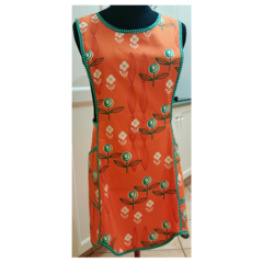 Summer Blossoms ladies orange apron