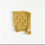 bobble bonnet - mustard | popcorn bonnet baby hat | toddler hat | wool beanie |