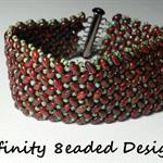 Herringbone Boho  Beaded Bracelet