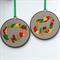 Woodland hoop art pair