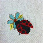 Machine embroidered hand towel. Lovely Gift.
