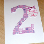 Personalised Birthday card - pink or blue - any age!