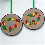 Woodland hoop art pair