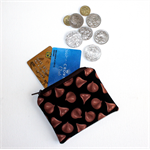 Coin Purse in Yummy Chocolate Chip Fabric