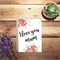 I love you mum watercolour