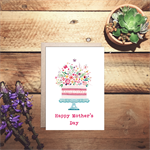 Happy Mother's day watercolour cake card