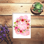 Mum watercolour Mother's day card