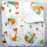 Baby Blanket - Boy - Foxes