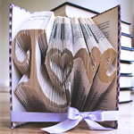 Love - Folded book art keepsake