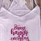 Yoga Singlet - Size 14 - White Loose Fit Singlet Pink Print