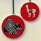 Alpaca/Mountain hoop art pair