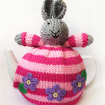 Hand Knitted Bunny Tea Cosy