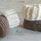 Light Brown & Cream Newborn Crochet Baby Booties Shoes Socks