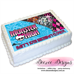 Monster High Personalised A4 Edible Icing Cake Topper