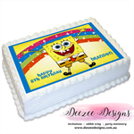 Spongebob Personalised A4 Edible Icing Cake Topper