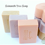 Soleseife or Brine-water Soap with Oat's Milk and Himalayan Pink Salt (4 bars)
