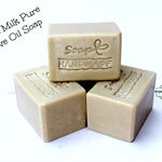 Pure Olive Oil with Goat's Milk Bar Soap 5 x 80 +/- 5g per bar (Unscented)