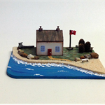 SMALL WOODEN SEASIDE House, Recycled Wood, Reclaimed Materials, Beach House