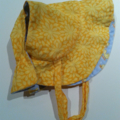Adjustable & Reversible Sun Bonnet - ducklings & daisies