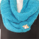 Hand knitted scarf. Mohair scarf. Infinity scarf, circular scarf. scarves