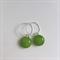 Greenery Green Fused Glass Hoop Earrings