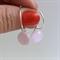 Pale Pink Fused Glass Hoop Earrings