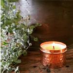 Wood Wick Soy Candle in Copper Tin