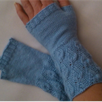 Lace cuff fingerless mitts - teen/adult