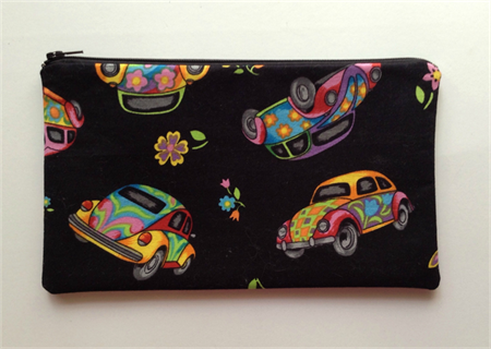 Rainbow VW Beetle Pencil Case
